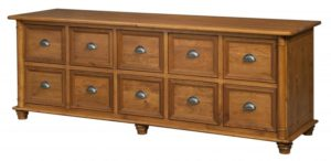 L & N - Belmont 10 Drawer Credenza: 86x24x31, 20 inch Drawers.