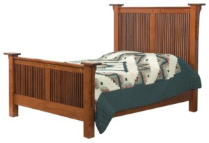 SCHWARTZ - Royal Mission Bed - Dimensions: HB posts 63.5 inch, In between posts 61.75 inch FB posts 35 inch Overall Size: King 88 1⁄2 inch x 91 inch Queen 72.5 inch x 91 inch Full 66.5 inch x 87 inch.