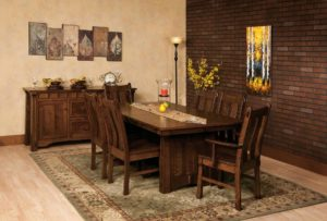 WEST POINT - Beaumont Table and Laurie Chairs Collection - Table Dimensions (in inches): 42x60, 42x66, 42x72, 48x60, 48x66, or 48x72 with up to 4 leaves - All pieces sold separately - Custom finish options available, please see store for details.