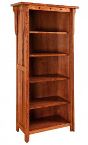 SCHWARTZ - Royal Mission Bookcase SC-3265 - Dimensions (in inches):32w x 14.5d x 65h.