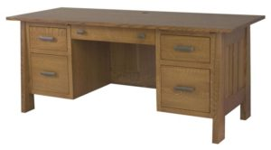 L & N - Freemont Mission File Desk - Dimensions (in inches): 74x23x31, 16 inch Drawers, 74x30x31, 20 inch Drawers, 74x36x31, 26 inch Drawers