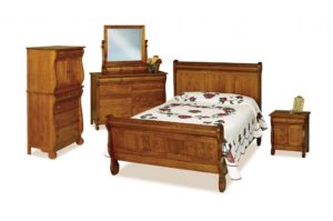 INDIAN TRAIL - Old Classic Sleigh - Dimensions: See bedroom galleries or call store for individual piece details.