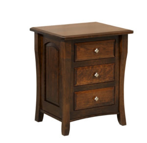 "OLD TOWN OAK - Berkley 3 Drawer Night Stand - Dimensions: 24""w x 28""h x 19""d"