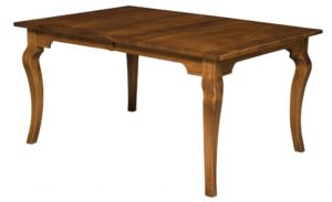 WEST POINT - Granby Leg Table - Dimensions (in inches): 42x60, 42x66, 42x72, 48x60, 48x66, or 48x72 with up to 4 leaves - Custom finish options available, please see store for details.