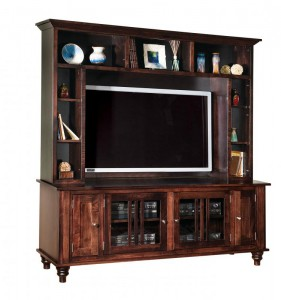 SCHWARTZ - Harvest TV Stand SC-73 w/Top Section - Dimensions:7 4.5w x 18d x 76.25h, TV open size - Dimensions: 50.5 x 11 x 34.75.