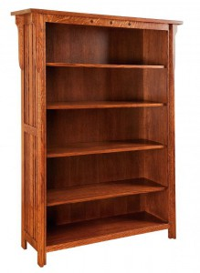 SCHWARTZ - Royal Mission Bookcase SC-4865 - Dimensions (in inches): 48w x 14.5d x 65h.