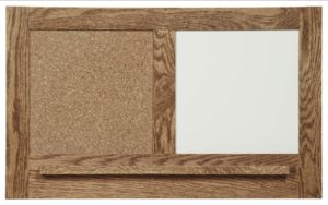 SUPERIOR WOODCRAFTS - Cork Board w/ Dry Erase - Dimensions (in inches): 28 x 2.5 x 17.