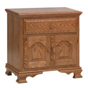 SCHWARTZ - Heritage Nightstand - Dimensions: 1 drawer, 2 doors, 26.5w x 17d x 26h