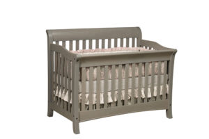 "OLD TOWN OAK - Berkley Grey Crib - Dimensions: 55½""w x 44.5""h x 35""d"