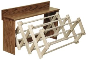 SUPERIOR WOODCRAFTS - Drying Rack Wall Mount - Dimensions (in inches): 34.75 x 8.5 x 20.5.