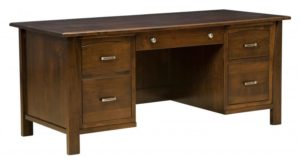 L & N - Mondavi Desk - Dimensions (in inches): 72x32x31, 24 inch Drawers, 72x28x31, 20 inch Drawers, 72x24x31, 16 inch Drawers.