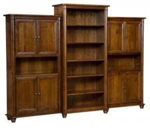 L & N - Belmont Open Bookcase: Center Bookcase - 39x18x80, Side Bookcases - 38x14x72.
