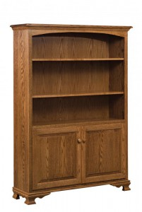 SCHWARTZ - SC-48 Heritage Bookcase w/Doors - Dimensions (in inches): 48w x 14.5d x 67h.