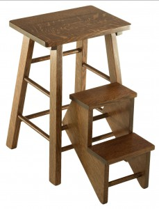 SUPERIOR WOODCRAFTS - Folding Step Stool - Dimensions (in inches): 15.5 x 15.5 x 24.