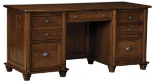 L & N - Belmont Desk - Dimensions (in inches): 66x26x31, 20 inch Drawers.