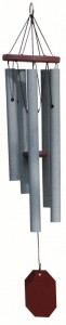SUPERIOR WOODCRAFTS - Sparkling Brook Granite Windchime - 29 inches long.