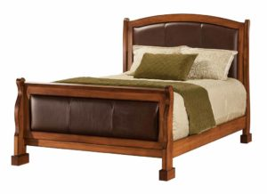 SCHWARTZ - Marshfield Leather Bed - Dimensions: HB 59 inch, FB 33 inch, Overall size: King 80 inch x 93 inch, Queen 64 inch x 93 inch, Full 58 inch x 89 inch