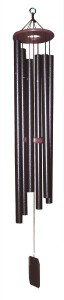 SUPERIOR WOODCRAFTS - Harmonica Textured Copper Biblical Bell Windchime - 48 inches long.