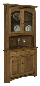 TOWNLINE - Boulder Creek Corner Hutch - Dimensions (in inches): 32w x 79.5h - Also available as base-only sideboard - Custom features and finish options available, please see store for details.