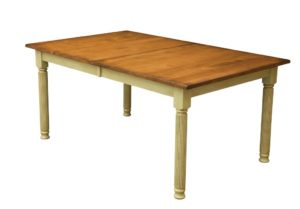 WEST POINT - Hamilton Leg Table - Dimensions (in inches): 42x60, 42x66, 42x72, 48x60, 48x66, or 48x72 with up to 4 leaves - Custom finish options available, please see store for details.