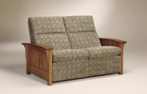 AJ's - Skyline Panel Loveseat Recliner: 62.5w x 38.5d x 40h.