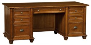 L & N - Belmont Desk - Dimensions (in inches): 72x32x31, 26 inch Drawers, 72x28x31, 22 inch Drawers, 72x24x31, 18 inch Drawers.