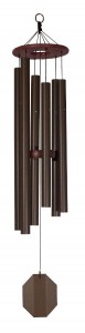 SUPERIOR WOODCRAFTS - King David's Harp Textured Copper Biblical Bell Windchime - 37 inches long.
