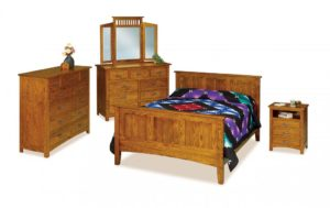 INDIAN TRAIL - Flush Mission - Dimensions: See bedroom galleries or call store for individual piece details.