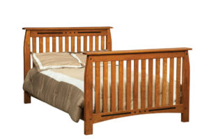"OLD TOWN OAK - Linbergh Double Bed - Dimensions: 58""w x 44""h"