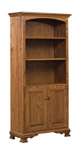 SCHWARTZ - SC-32 Heritage Bookcase w/Doors - Dimensions (in inches): 32w x 14.5d x 67h.