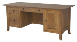 L & N - Shaker Hill File Desk - Dimensions (in inches): 74x36x31, 26 inch Drawer, 74x30x31, 22 inch Drawer, 74x23x31, 16 inch Drawer.