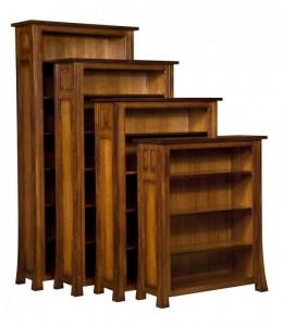 L & N - Bridgefort Bookcases: 40x14x84 w/ 6 Shelves, 40x14x72 w/ 5 Shelves, 40x14x60 w/ 4 Shelves, 40x14x48 w/ 3 Shelves.