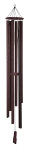 SUPERIOR WOODCRAFTS - Church Bell Bronze Windchime - 57 inches long.