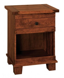 SCHWARTZ - Laredo Nightstand - Dimensions: 1 drawer, open below,24w x 18d x 31.5h