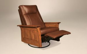 AJ's - McCoy Rocker Recliner Swivel: 33w x 38d x 43h (springs standard, not available in slats).