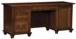 L & N - Belmont Credenza Desk - Dimensions (in inches): 72x24x31, 20 inch Drawer.