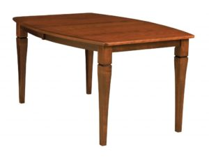 WEST POINT - Mansfield Leg Table - Dimensions (in inches): 42x60, 42x66, 42x72, 48x60, 48x66, or 48x72 with up to 4 leaves - Custom finish options available, please see store for details.