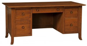 L & N - Shaker Hill File Desk - Dimensions (in inches): 66x32x31, 24 inch Drawer.
