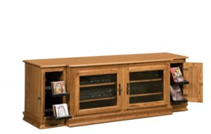 SCHWARTZ - Heritage TV Stand SC-74 H No Towers - Dimensions: 74w x 20d x 25.25h.