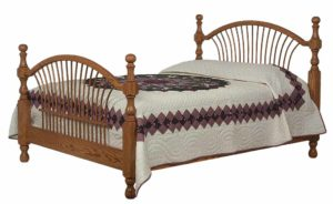 SCHWARTZ - Bow Sheaf Bed - Dimensions: HB posts 52 inch, In between posts 50 inch, FB posts 42 inch, Overall size: King 80 1/2 inch x 88 inch, Queen 64 1/2 inch x 88 inch, Full 58 1/2 inch x 84 inch