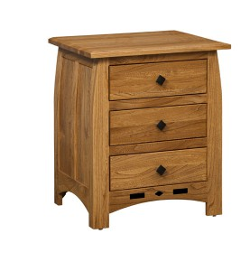 "OLD TOWN OAK - Linbergh 3 Drawer Night Stand - Dimensions: 24""w x 28""h x 19""d"