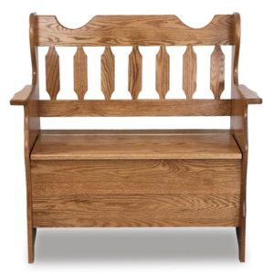 A & J - 12 Inch Slat Back Bench - Dimensions (in inches):36w x 17.5d x 36h, 11 inch Deep Storage, call store for additional sizes
