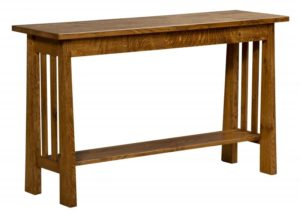 L & N - Open Freemont Mission Return Table - Dimensions (in inches): 52x16x31.
