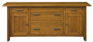 L & N - Freemont Mission Credenza: 74x22x31, 14½ inch Drawer.