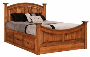 SCHWARTZ - Highland Bed - Dimensions: HB 52 inch, FB 31 inch, Overall size: King 83 inch x 88 inch, Queen 67 inch x 88 inch, Full 62 inch x 84 inch