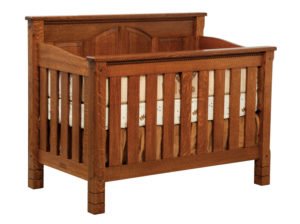 "OLD TOWN OAK - West Lake Crib - Dimensions: 56.5""w x 45""h x 32""d"