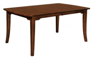 WEST POINT - Broadway Leg Table - Dimensions (in inches): 42x60, 42x66, 42x72, 48x60, 48x66, or 48x72 with up to 4 leaves - Custom finish options available, please see store for details.