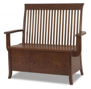A & J - Carlisle Bench - Dimensions (in inches):38w seat x 18d x 41h, 46w Arm to Arm, 12 inch Storage, call store for additional sizes.