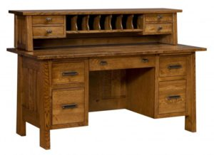 L & N - Freemont Mission File Desk With Topper - Dimensions (in inches): 66xx28x31, 20 inch Drawers, please call for measurements w/ topper.