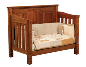 "OLD TOWN OAK - West Lake Toddler Bed - Dimensions: 56.5""w x 45""h x 32""d"
